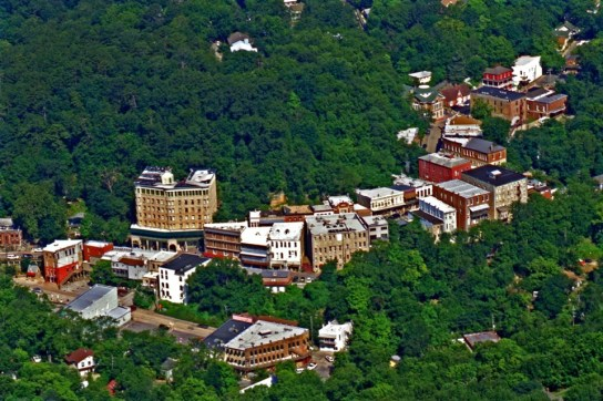 Eureka Springs nestled in the Ozark Mountains of Arkansas