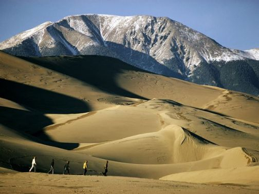 Great Sand Dunes, in the San Cristo Mountains