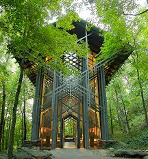 Exterior view of Thorncrown Chapel
