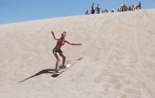 Another sandboarder